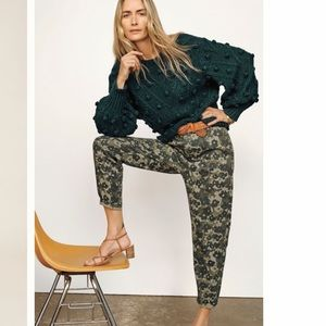 Anthropologie Amadi Floral Camo Trousers